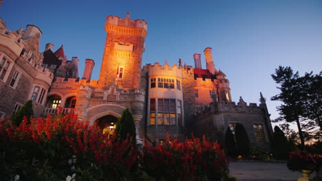 Casa-Loma-Castle-Toronto-in-the-Evening