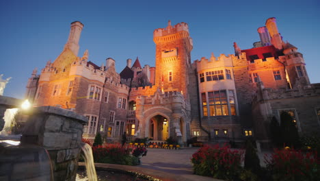 Casa-Loma-Castle-at-Dusk-in-Toronto