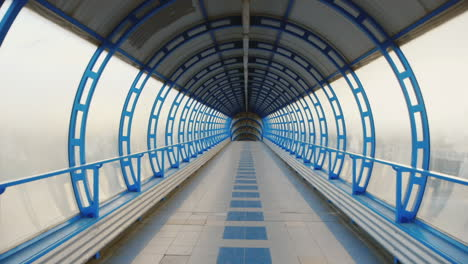 Camera-Flying-Through-A-Glass-Tunnel-The-Transition-Between-The-Terminals-Of-The-Airport-Or-Train-St