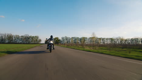 Motorcyclist-Appears-In-The-Frame-Shooting-On-The-Move-Smoothly-And-Without-Shaking