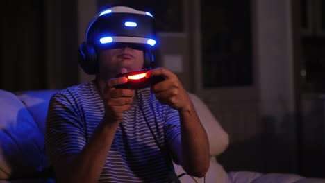 Virtual-Reality-Gamer-at-Night