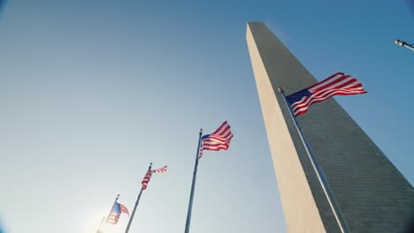 USA-Flags-and-Washington-Monument