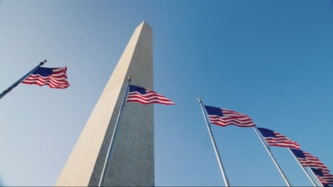 Washington-Monument-and-USA-Flags