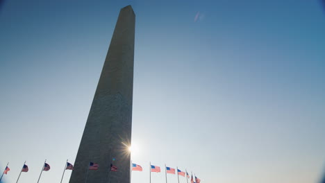 Sun-Shining-Behind-Washington-Monument