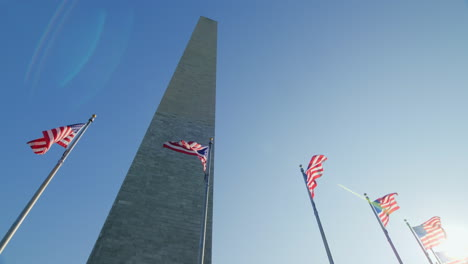 Washington-Monument-and-USA-Flags-Sun-Flare