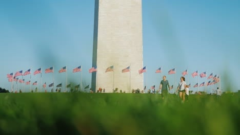 People-Near-The-Washington-Monument