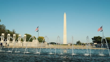 Memorial-Fountain-and-Washington-Monument