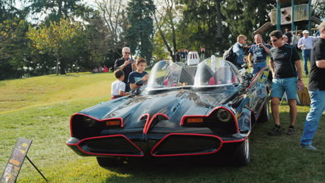 Batmobile-Display-at-Car-Show