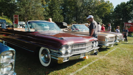 Row-of-Retro-Cadillac-Cars