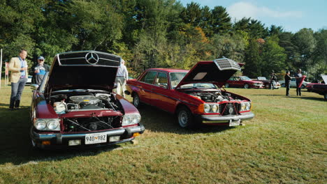 Classic-Mercedes-Cars-at-Car-Show