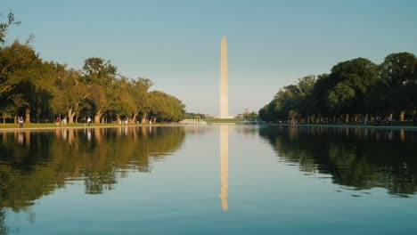 Monumento-A-Washington-Y-La-Piscina-Reflectante