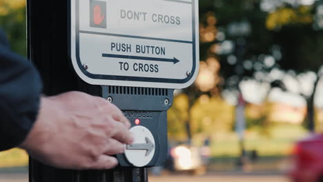 Pressing-Crosswalk-Button