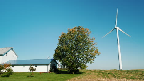 Wind-Turbine-by-a-Farmhouse
