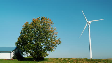 Wind-Turbine-on-a-Farm