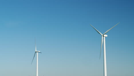Wind-Turbine-Sails-and-Blue-Sky