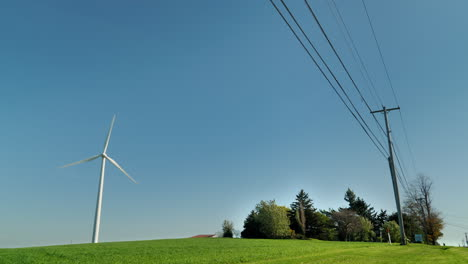 Wind-Turbine-and-Power-Lines