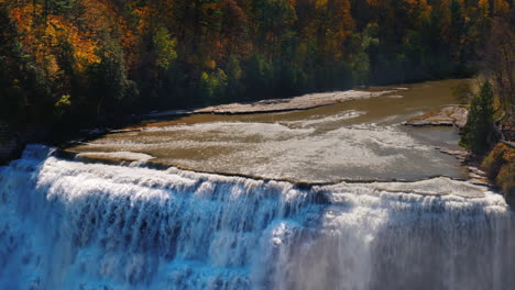 Waterfall-in-a-Forest-in-Letchworth-State-Park