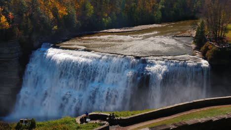 Genesee-Waterfall-in-Letchworth-State-Park