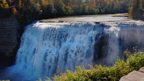 Middle-Waterfall-Letchworth-State-Park