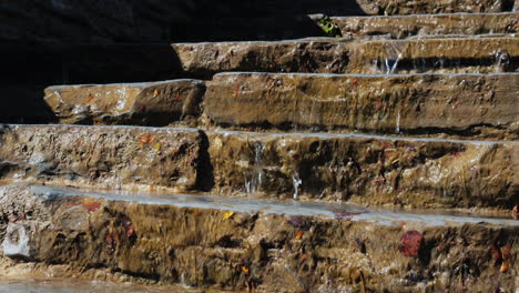 Water-Flows-Down-Stone-Steps
