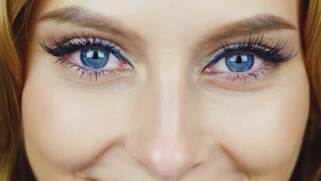 The-Eyes-Of-A-Young-Woman-Looking-Into-The-Camera-Expressive-Blue-Eyes-Hd-Video