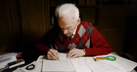 Grandfather-Writing-Letter