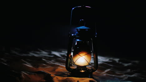 Old-Kerosene-Lamp-Shines-In-The-Darkness-Mystic-Halloween-Concept