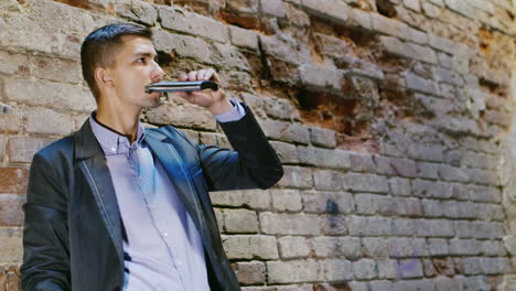 Young-Frustrated-Businessman-Drinking-Alcohol-From-Flasks-In-An-Abandoned-House-Concept-Depression-T
