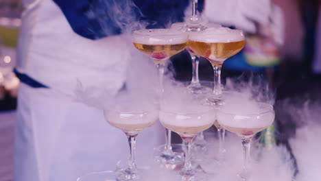 Pour-The-Steaming-Drink-In-Glasses-On-A-Children-s-Party