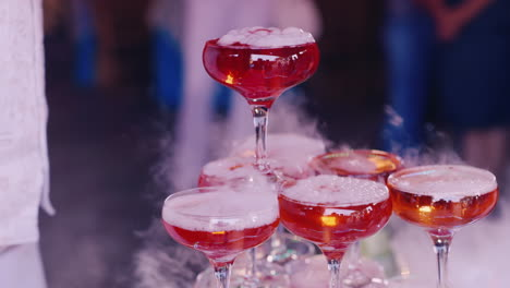 Pour-Boiling-Pink-Drink-In-A-Baby-Party-Close-Up