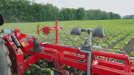 Agricultural-Machinery-For-Weeding-Fields-His-Tractor-Pulls