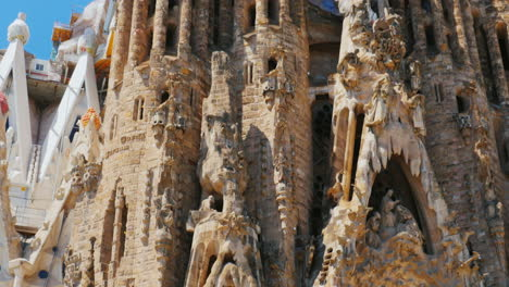 Details-Of-External-Finish-The-Sagrada-Familia-In-Barcelona