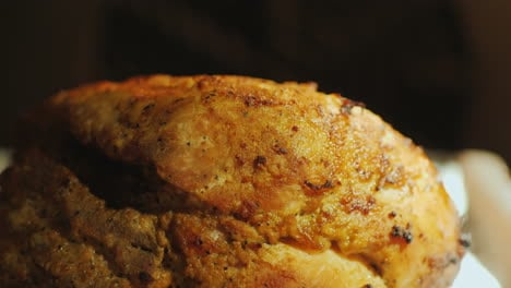 A-Large-Piece-Of-Appetizing-Meat-In-A-Hot-Electric-Oven-4k-Video