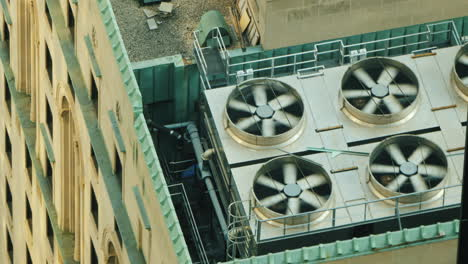 Air-Conditioning-And-Ventilation-Fans-Of-A-High-Rise-Building-On-The-Roof
