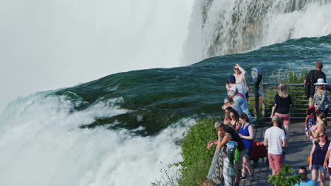 People-Admire-An-Amazing-Sight---Niagara-Falls-A-Popular-Destination-Among-Tourists-From-All-Over-Th