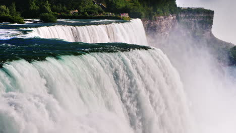 Water-Flows-Of-Niagara-Falls---The-Beautiful-Nature-Of-America-And-Canada-A-Popular-Place-For-Visiti