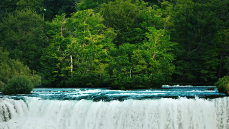 The-Niagara-River-Flows-From-The-Forest-Giving-Rise-To-Niag-Falls---One-Of-The-Natural-Attractions-O