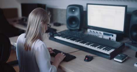 Woman-Working-In-Studio-Office