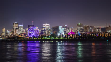 View-Of-The-Night-City-Of-Montreal-In-The-Province-Of-Quebec-Canada