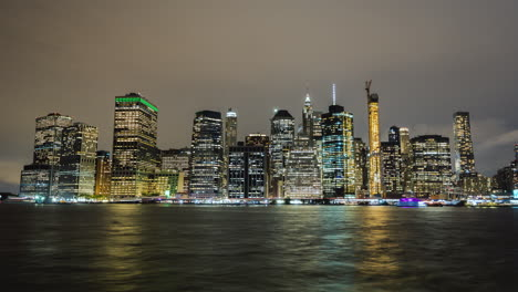 View-Of-Lower-Manhattan-At-Night-New-York-Business-District-Night-Timelapse
