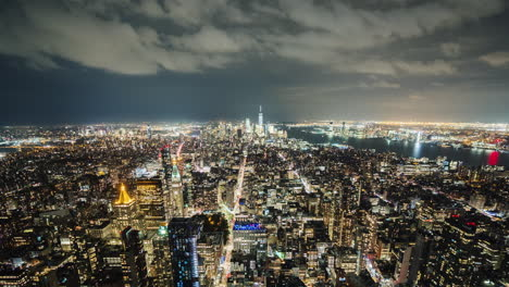 Manhattan-New-York---Night-Video-Aerial-Video-Timelapse-Wide-Lens-4k-Shot