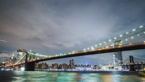 The-Two-Most-Famous-Bridges-In-New-York-Are-The-Brooklyn-Bridge-And-The-Manhattan-Bridge-Against-The