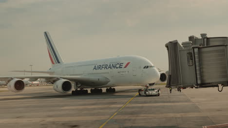 Air-France-s-Huge-Airliner-Prepares-For-Departure