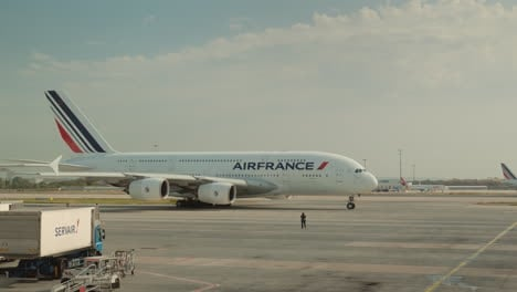 Air-France-Company-Liner-Preparing-To-Take-Off