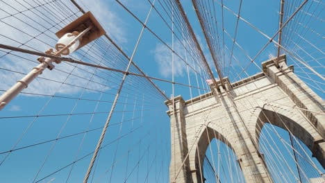 Walk-Along-The-Brooklyn-Bridge-Lower-Angle-Shooting-With-Rotation-First-Person-View