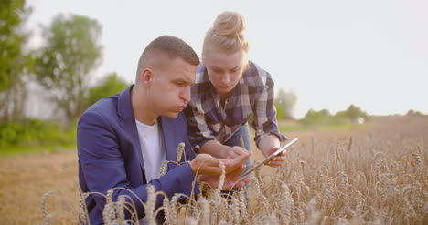 Young-Farmers-Discussing-At-Wheat-Field-14