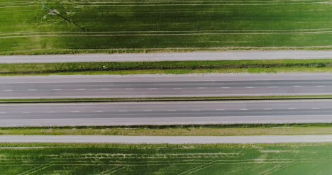 Car-Passing-Highway-Aerial-View