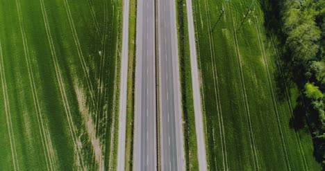 Car-Passing-Highway-Aerial-View-8