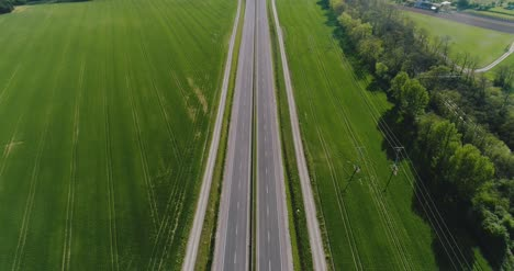 Car-Passing-Highway-Aerial-View-9