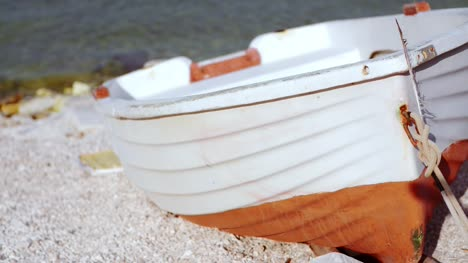 Close-Up-Of-Old-Boat-At-Seashore